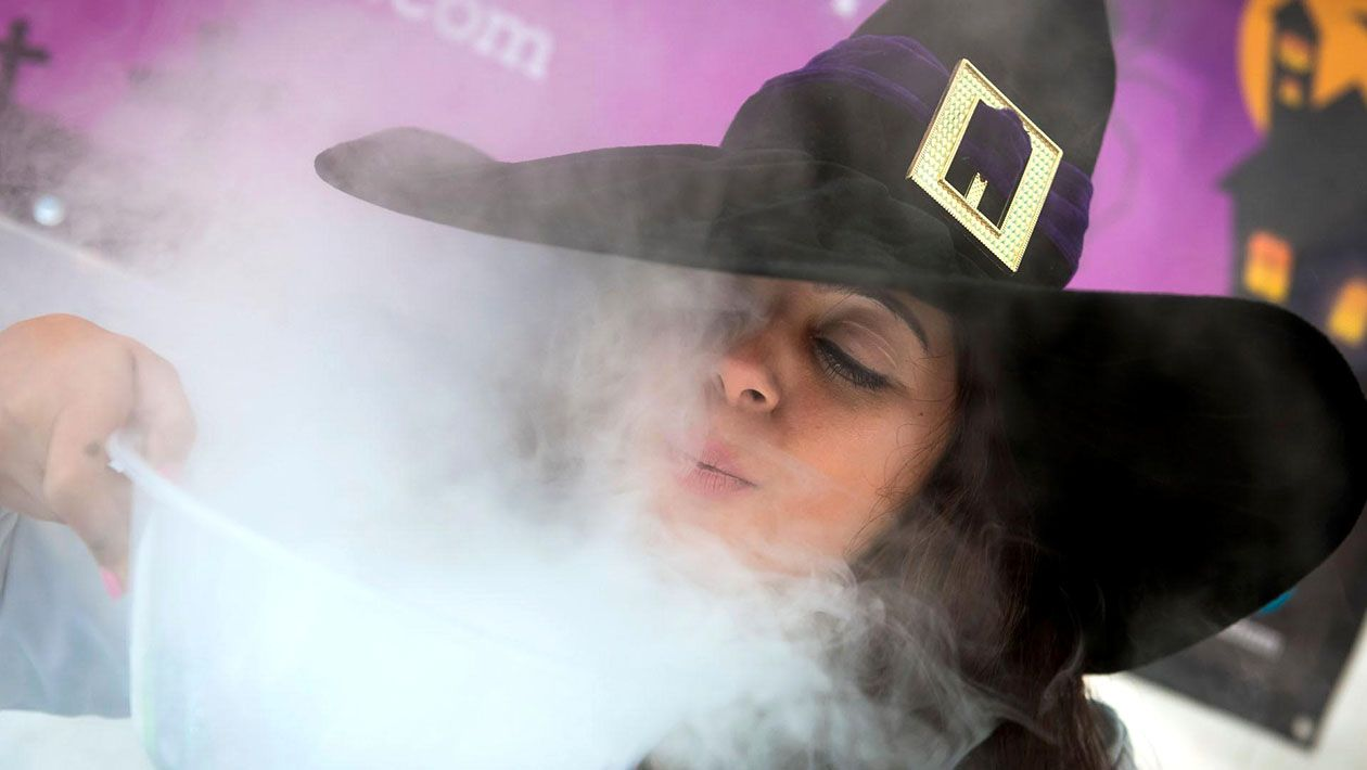 witch, smoke, dry ice